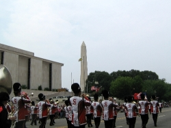Springdale High School Band marching in the National Independence Day Parade
