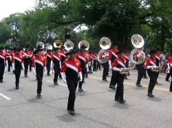 Santaluces High School Band marching in the National Independence Day Parade
