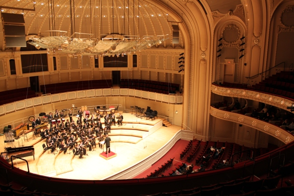 Connetquot Wind Ensemble Performing in Symphony Hall in Chicago