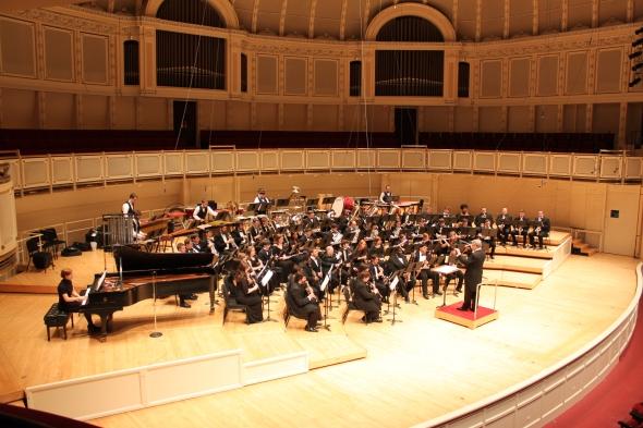 Southeastern Louisiana University Wind Symphony in Orchestra Hall