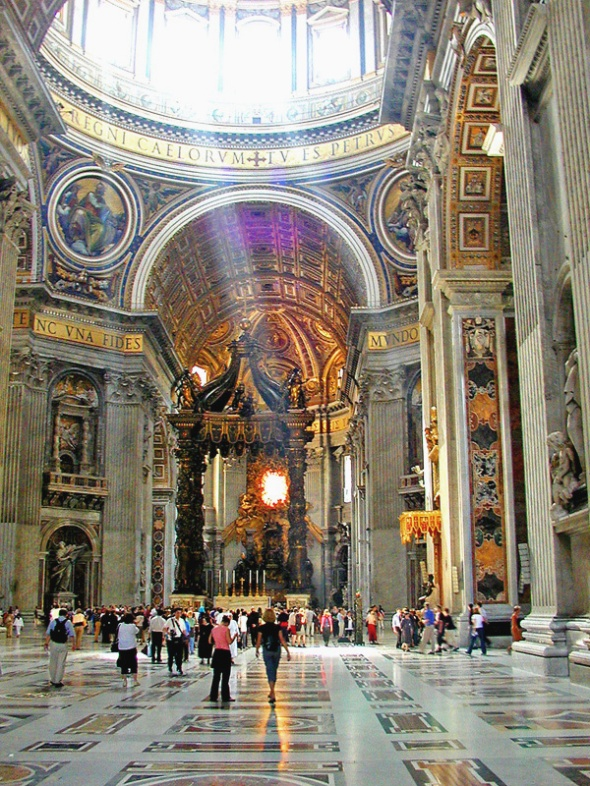 St. Peter's Basilica, where Fontbonne Academy participated in Mass
