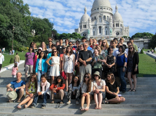 Touring Group at Sacre Coeur
