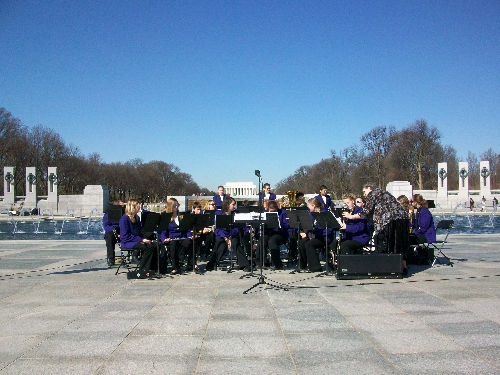 Valley Heights High School Band at the World War II Memorial