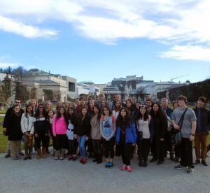 Walled Lake Orchestra with Salzburg in the background