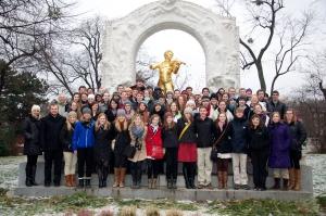 GWO at the Johann Strauss Monument in Vienna