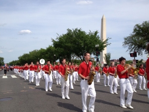 Peters Township High School Marching Band at the 2014 National Memorial Day Parade.