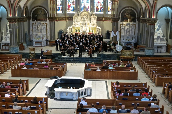 The Master Singers of UW, Eau Claire perform Dan Forrest's 'Requiem for the Living' to great acclaim at DePaul University's St. Vincent De Paul Church in Chicago.