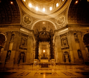 St. Peter's Basilica. Rome, Italy.