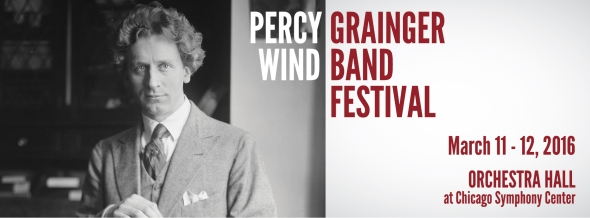 2016 Percy Grainger Wind Band Festival Header